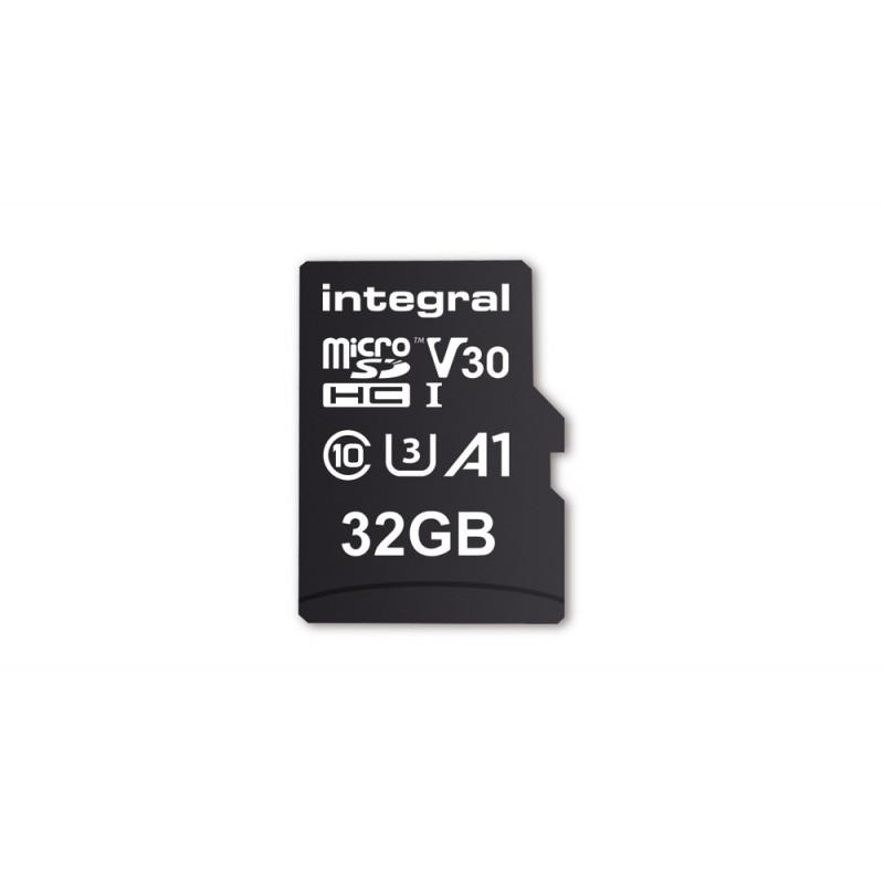 INTEGRAL 32GB High Speed microSDHC card V30 UHS-I U3 100/30