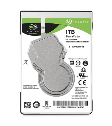 Seagate BarraCuda ST1000LM048 5400 RPM, 1000 GB, 128 MB