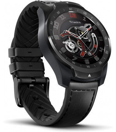 TicWatch Pro  Smart watch, NFC, GPS (satellite), AMOLED, Touchscreen, Heart rate monitor, Activity monitoring 24/7, Waterproof,