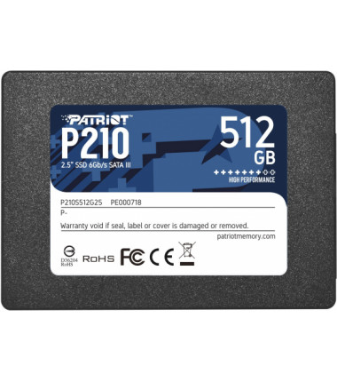 PATRIOT P210 SSD 512GB SATA 3 Internal Solid State Drive 2.5inch