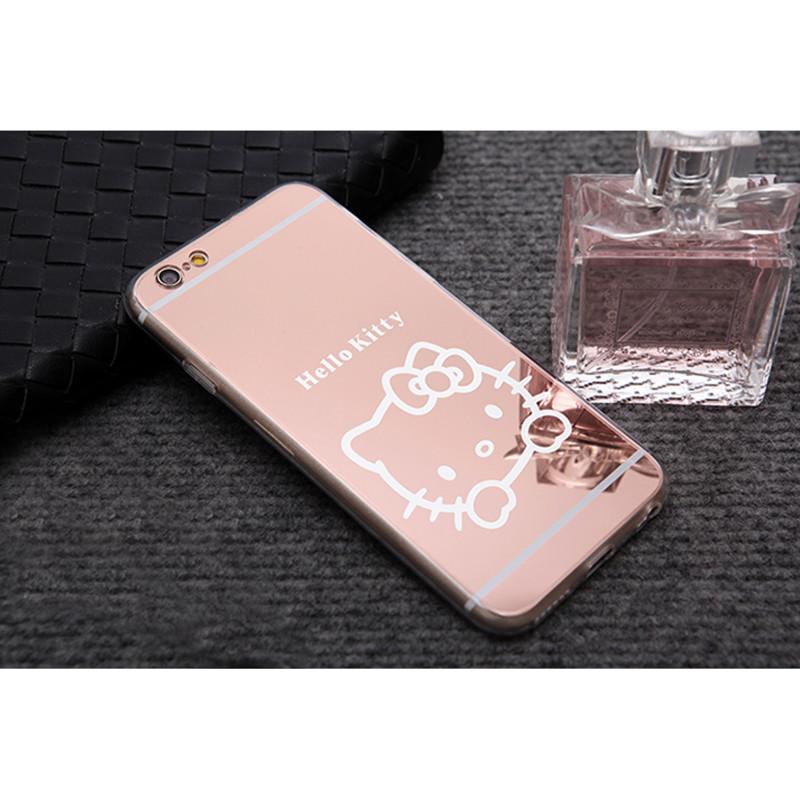 Veidrodinis Hello Kitty dėklas Apple iPhone 6