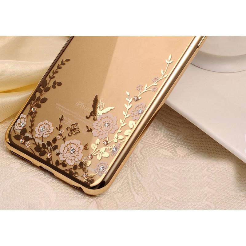 Silikoninis dėklas su gėlėmis iPhone 6