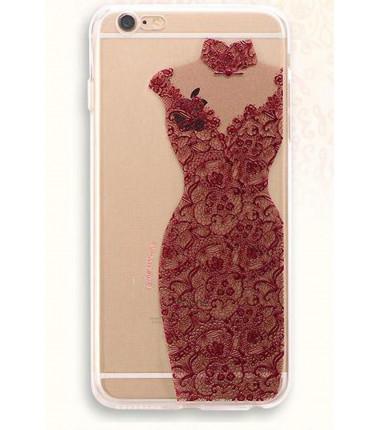 Raudona suknelė dėklas iPhone 6