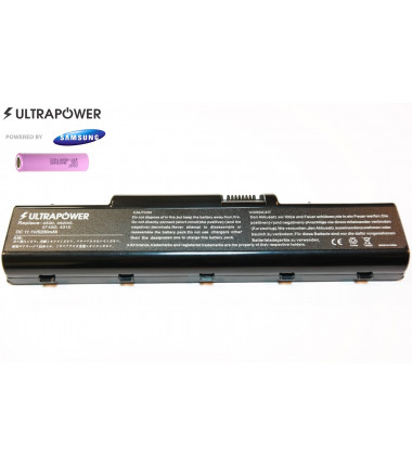 Acer AS07A72 AS07A32 AS07A51 AS07A31 AS07A41 AS07A42 AS07A52 UltraPower 6 celių 5200mah baterija