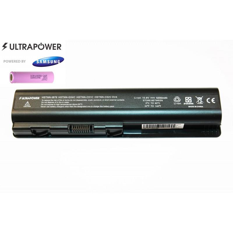 Hp EV06 HSTNN-IB79 HSTNN-Q34C HSTNN-C51C HSTNN-C52C DV6 UltraPower 6 celių 5200mah baterija