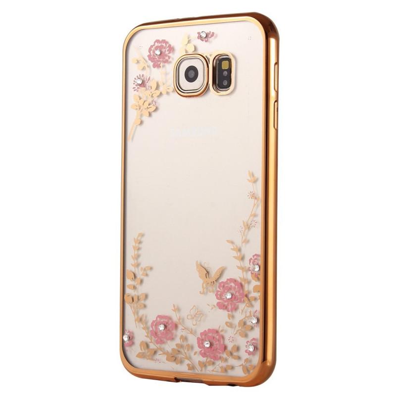Dėklas gėlytės Samsung galaxy s7 edge