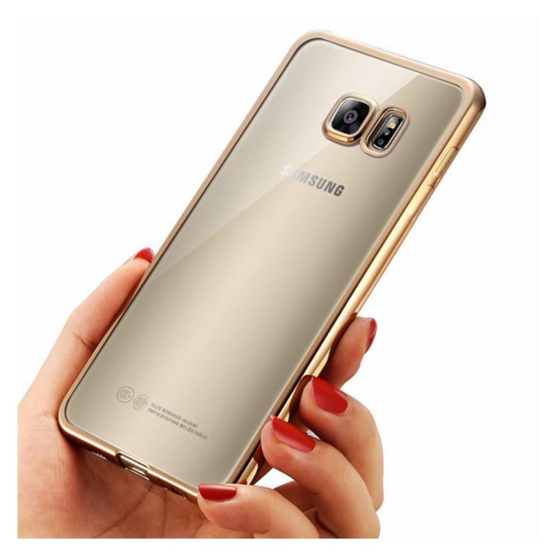 Elegantiškas skaidrus dėklas Samsung galaxy s7 edge