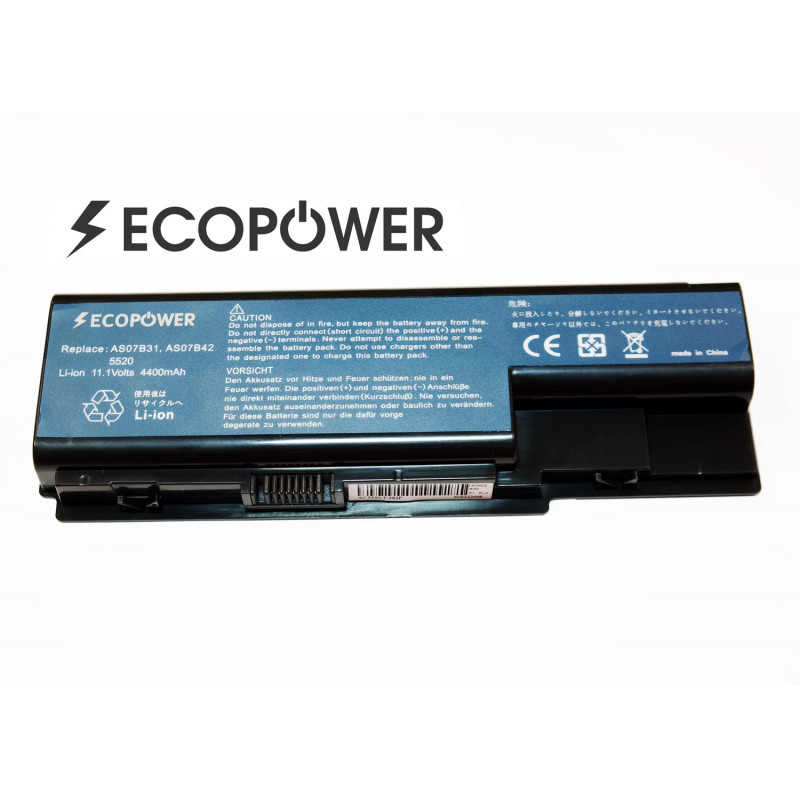 Acer AS07B42 EcoPower 6 celių 4400mah baterija
