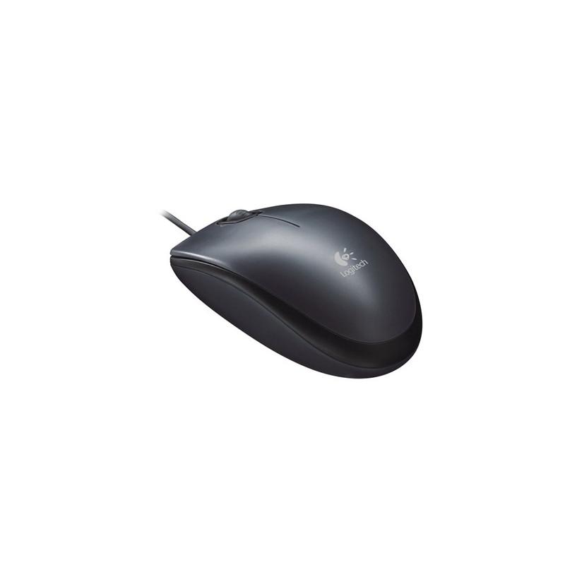 Logitech M90 USB laidinė juoda pelė