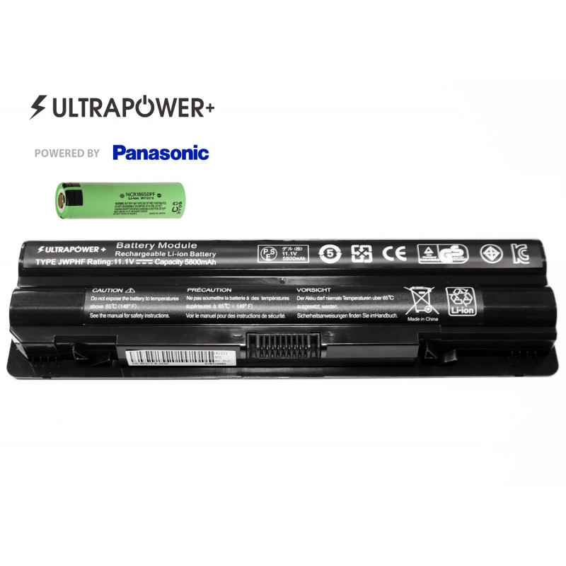Dell JWPHF UltraPower+ 6 celių 5800mAh baterija