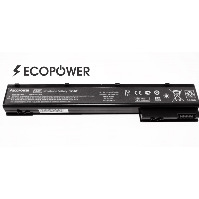 HP VH08 VH08XL EcoPower 8 celių 4400mah baterija