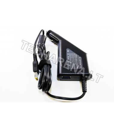 Lenovo 20v 4.5a (stačiakampis antgalis) automobilinis įkroviklis 90w + USB