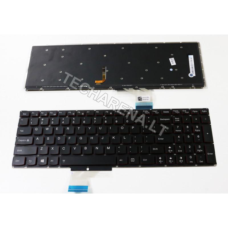 Lenovo Erazer Y50 Y50-70 Y70-70 Ideapad U530 US klaviatūra su apšvietimu