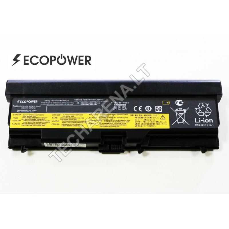 Lenovo 42t4797 42t4796 ThinkPad SL510 T410 T420 T510  W510 EcoPower 9 celių 6600mah baterija