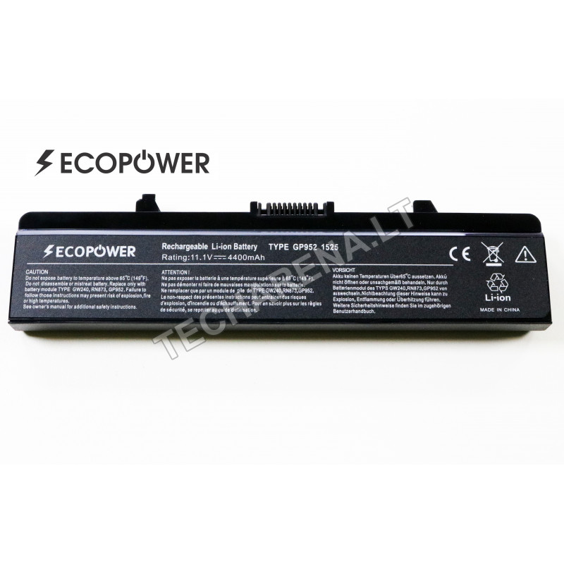 Kompiuterio baterija & akumuliatorius Dell Rn873 EcoPower