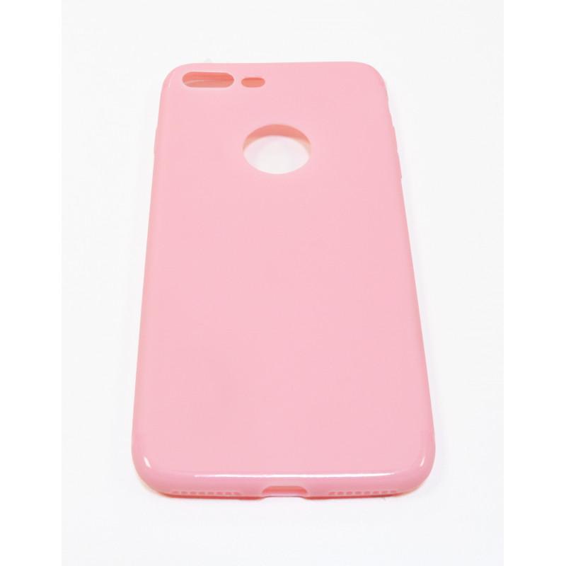 Rausvas silikoninis dėklas iPhone 7 Plus