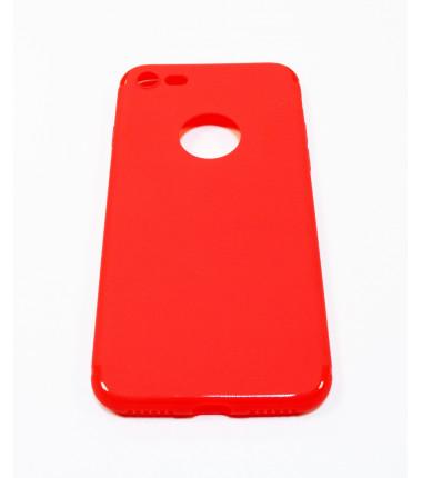 Raudonas silikoninis dėklas iPhone 7