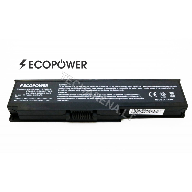Dell WW116 MN151 Inspiron 1420 Vostro 1400 EcoPower 6 celių 4400mah baterija
