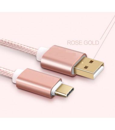 Rožinis 2m Micro USB Type C laidas