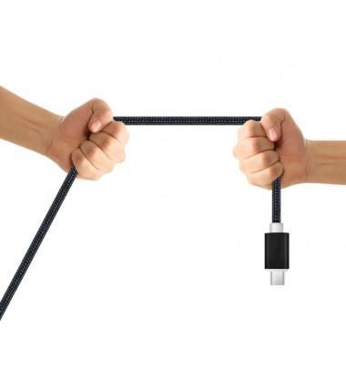 Juodas 2m Micro USB Type C laidas