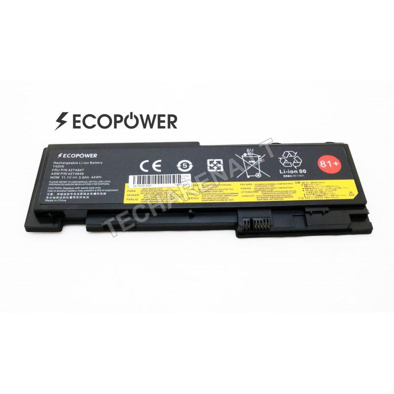 Lenovo T430S T420S T420SI EcoPower 6 celių 3963mah baterija