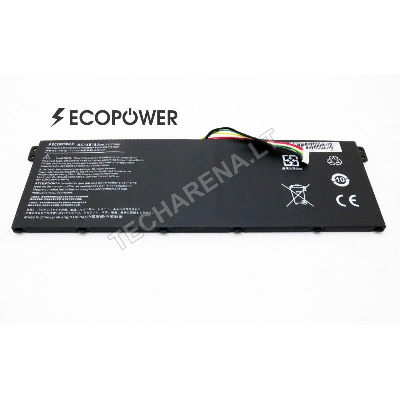 Acer AC14B18J ASPIRE ES1-512 ES1-521 ES1-522  EcoPower 3 celių 2200mah baterija