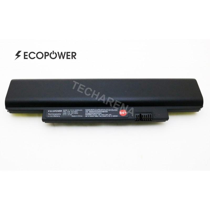 Lenovo 42T4945 42T4946 42T4951 42T4952 X131 E125 EcoPower 6 celių 4400mah baterija