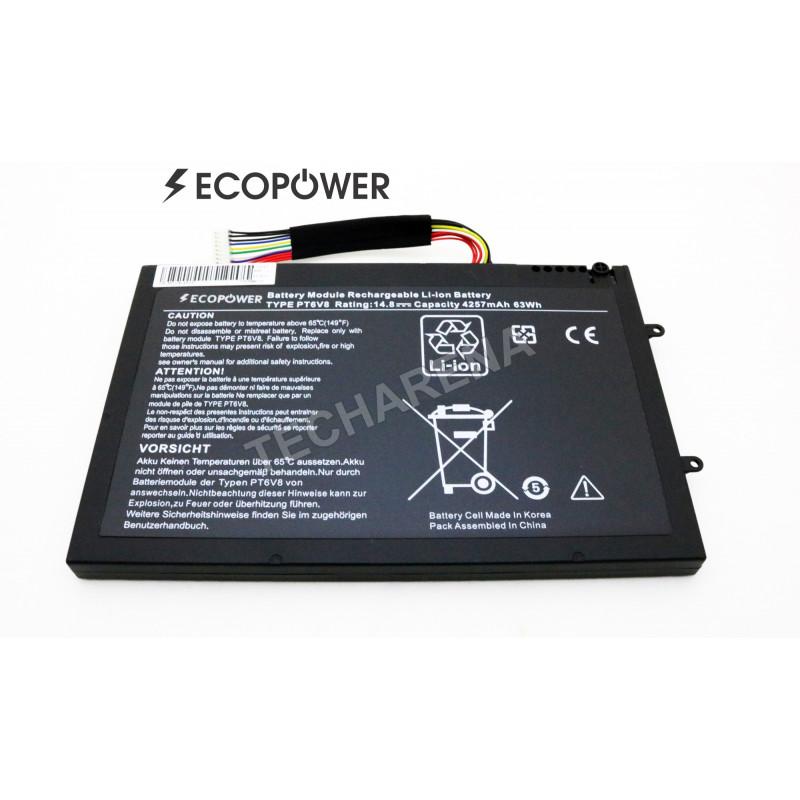 DELL Alienware M11x M14x R1 R2 R3 PT6V8 8P6X6 T7YJR P06T O8P6X6 EcoPower 4 celių 4257mah baterija