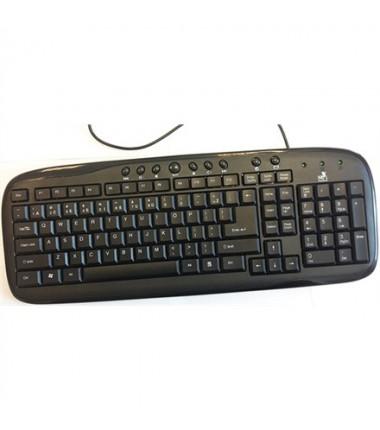 Super power KM-1008 juoda USB, EN/LT klaviatūra