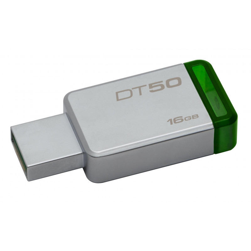 Kingston Data Traveler 50 16GB, USB 3.0, Metal/Green