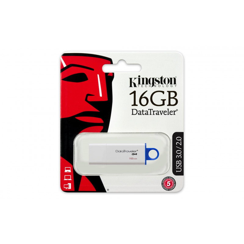 Kingston Data Traveler I G4 16GB, USB 3.0, White/Blue