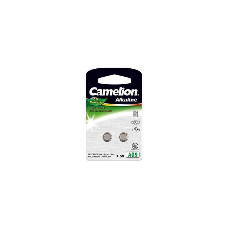 Camelion AG9 LR45 LR936 394, Alkaline Buttoncell, 2vnt