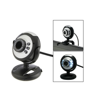 Super power Webcam Silver/Black with Microphone, USB 2.0, Driverless, Blister Package