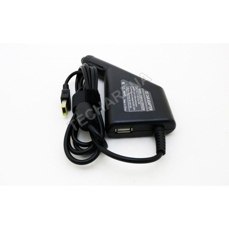 Lenovo 20v 2.25a stačiakampis antgalis su adata automobilinis įkroviklis 45w + USB fast charge