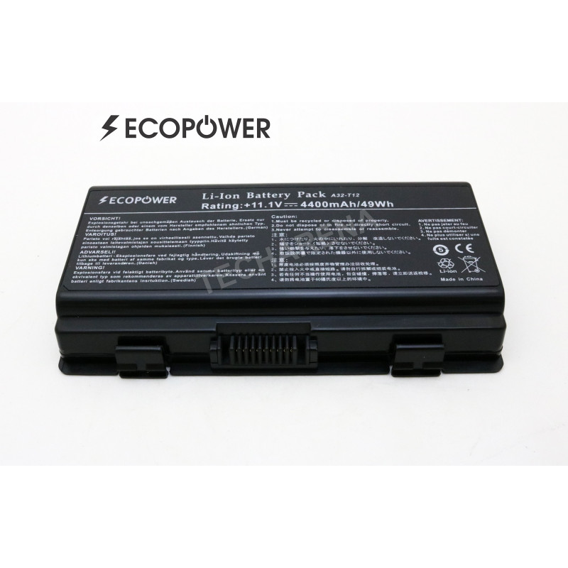 Kompiuterio baterija Asus Packard Bell A32-X51 A32-T12 X51 EcoPower 6 celių 4400mah