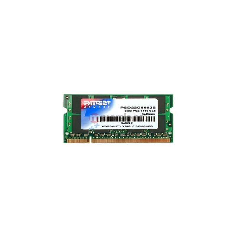 Patriot SODIMM DDR2 2GB Signature 800MHz CL6 RAM
