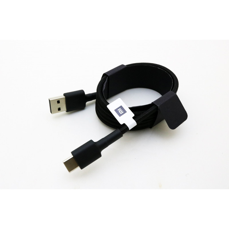 Greito krovimo HQ Micro USB TYPE C laidas, juodas 1m.