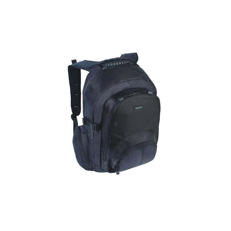 "Targus Classic Fits up to size 16 "", Black, Backpack, Shoulder strap"
