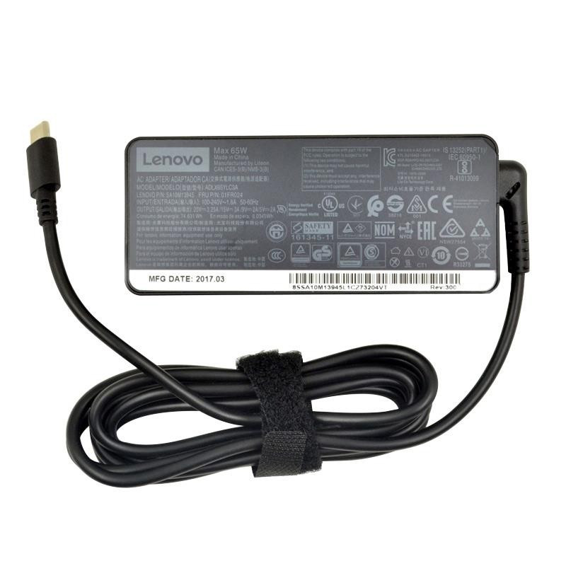 Lenovo ADLX65YLC3D ADLX65YDC3A originalus USB Type - C įkroviklis 65w