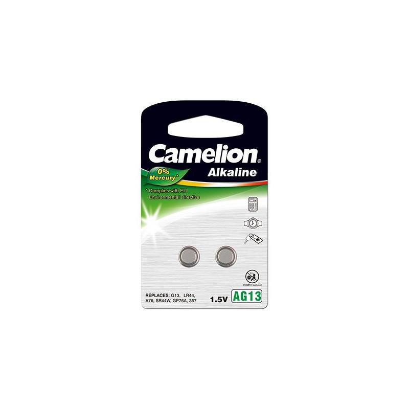 """Camelion Alkaline Button celles 1.5V (AG13) LR44/LR1154/357, 2-pack, """"no mercury"""""""