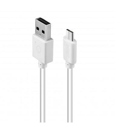 Acme Cable CB1011W 1 m, White, Micro USB, USB A