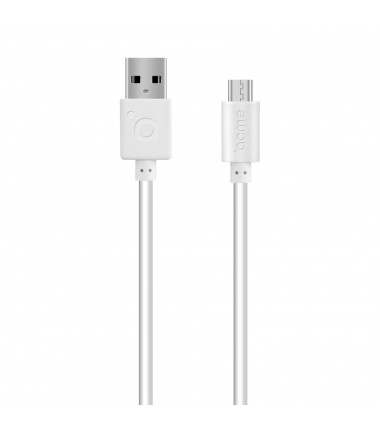 Acme Cable CB1011W 1 m, White, Micro USB, USB A