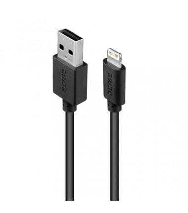 Acme Cable CB1031 1 m, Black, Lightning, USB A