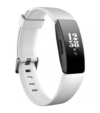 Fitbit Inspire HR Fitness Tracker FB413BKWT OLED, White/ Black, Touchscreen, Bluetooth, Built-in pedometer, Heart rate monitor,