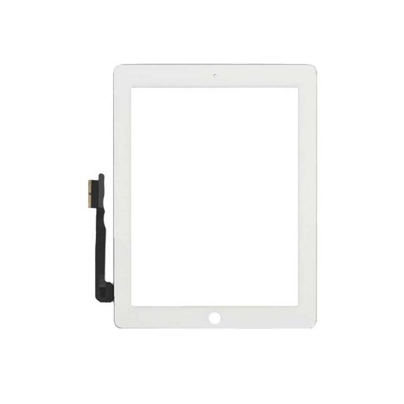 Apple Ipad 3 ir 4 baltas lietimui jautrus stiklas / digitaizeris