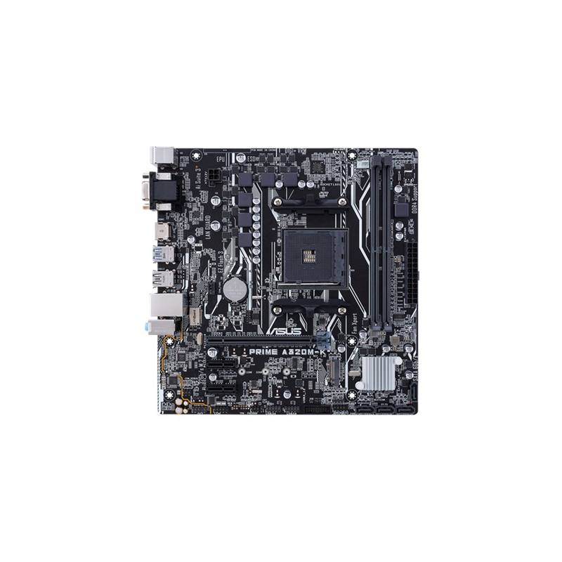 Asus PRIME A320M-K Processor family AMD, Processor socket AM4, Max. 32GB, DDR4, Memory slots 2, Supported hard disk drive interf