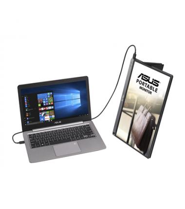 "Asus ZenScreen USB Type-C portable LCD MB16AC 15.6 "", IPS, FHD, 1920 x 1080 pixels, 16:9, 220 cd/m², Dark grey, Hybrid Signal So"