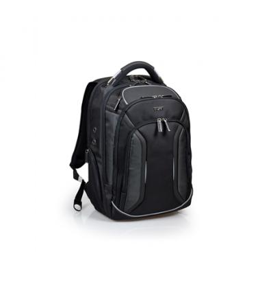 """Port Designs Melbourne Fits up to size 15.6 """", Black, Shoulder strap, Waterproof cover, Backpack"""