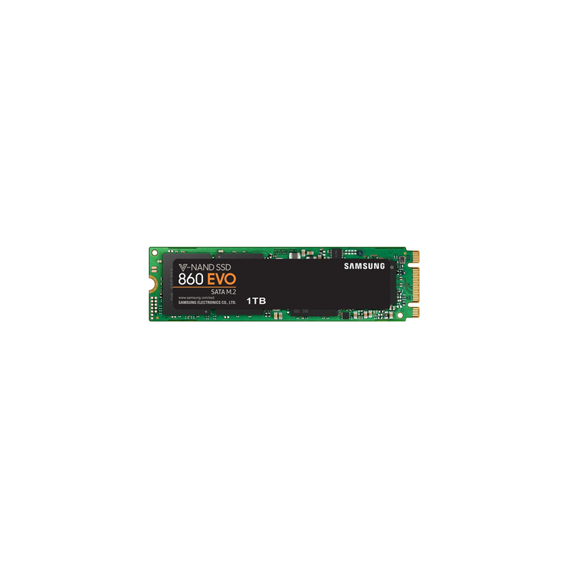 Samsung 860 EVO 1000 GB, SSD interface M.2 SATA, Write speed 520 MB/s, Read speed 550 MB/s