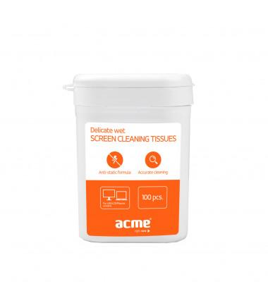 Drėgnos valymo servetėlės ekranams Acme CL02 TFT/LCD 100vnt.
